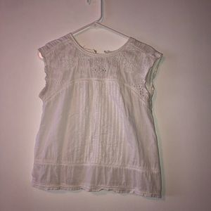 Abercrombie And Fitch Sheer White Blouse